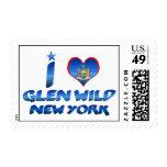 I love Glen Wild, New York Postage Stamps