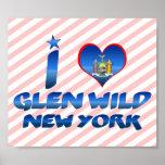 I love Glen Wild, New York Posters
