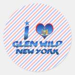 I love Glen Wild, New York Stickers