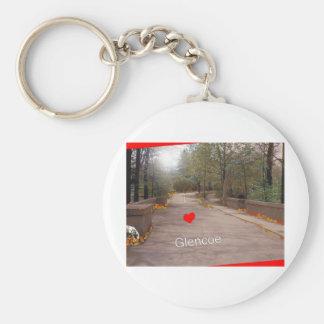 I love Glencoe Basic Round Button Keychain