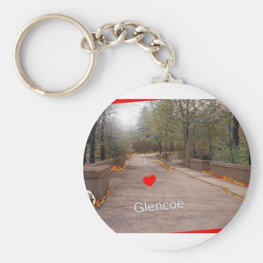 I love Glencoe Key Chain