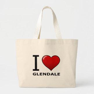 I LOVE GLENDALE,AZ - ARIZONA CANVAS BAGS
