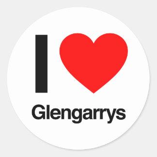 i love glengarrys round stickers
