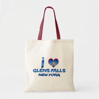 I love Glens Falls, New York Budget Tote Bag
