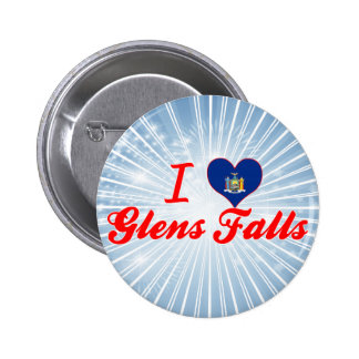 I Love Glens Falls, New York Buttons
