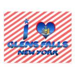 I love Glens Falls, New York Postcard