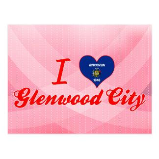 I Love Glenwood City, Wisconsin Postcard