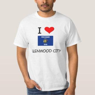 I Love Glenwood City Wisconsin T Shirts