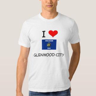 I Love Glenwood City Wisconsin Tee Shirts