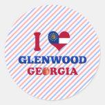 I Love Glenwood, Georgia Sticker