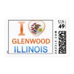 I Love Glenwood, IL Stamps