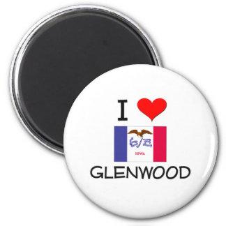 I Love GLENWOOD Iowa 2 Inch Round Magnet