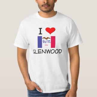 I Love GLENWOOD Iowa T Shirts