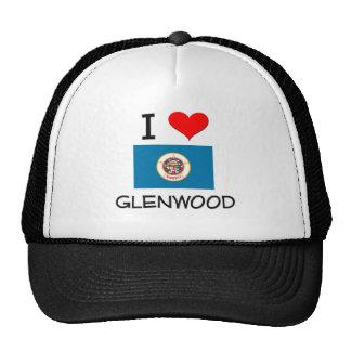I Love Glenwood Minnesota Trucker Hat