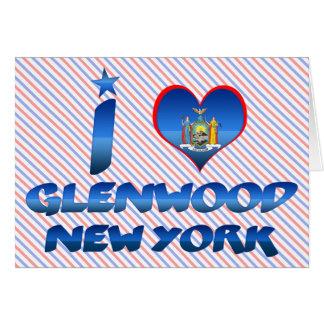 I love Glenwood, New York Greeting Card