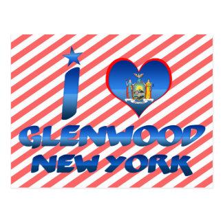 I love Glenwood, New York Postcard