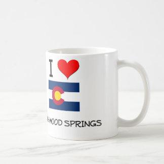I Love GLENWOOD SPRINGS Colorado Classic White Coffee Mug