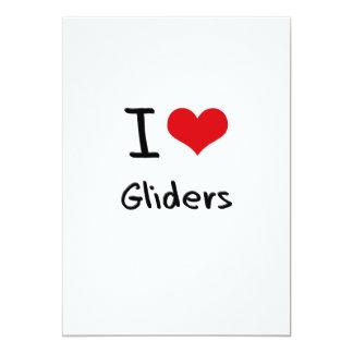 I Love Gliders 5x7 Paper Invitation Card