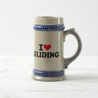 I love Gliding Beer Stein