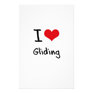 I Love Gliding Custom Stationery
