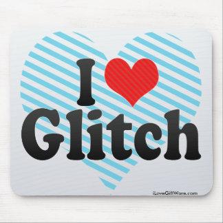 I Love Glitch Mouse Pad