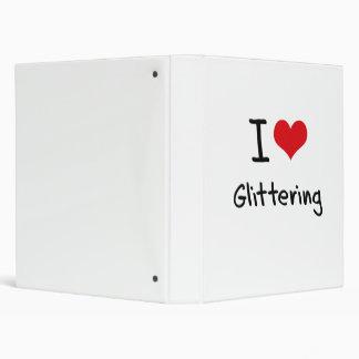 I Love Glittering 3 Ring Binder