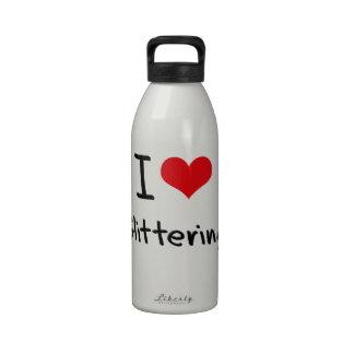 I Love Glittering Reusable Water Bottle