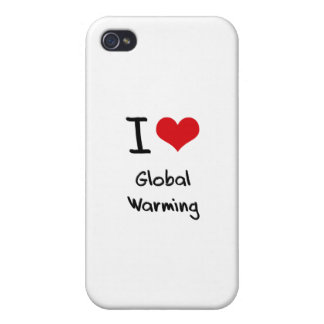 I Love Global Warming Case For iPhone 4