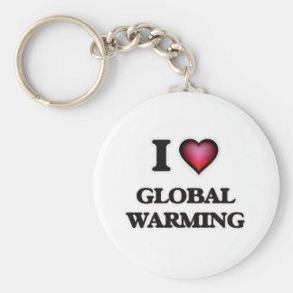 I love Global Warming Keychain