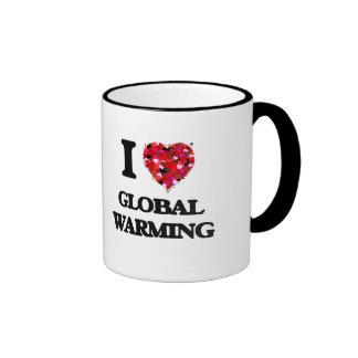 I Love Global Warming Ringer Coffee Mug