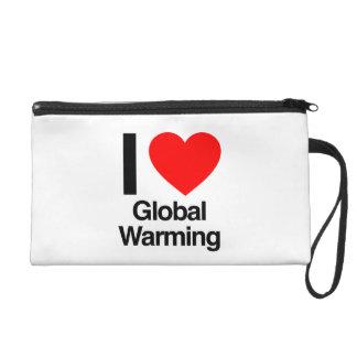 i love global warming wristlet clutch