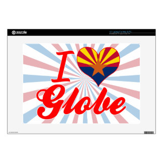 I Love Globe, Arizona Decal For Laptop