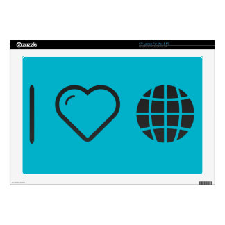 I Love Globe Pollutions Laptop Decal