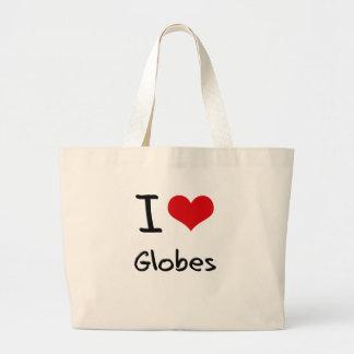 I Love Globes Tote Bags