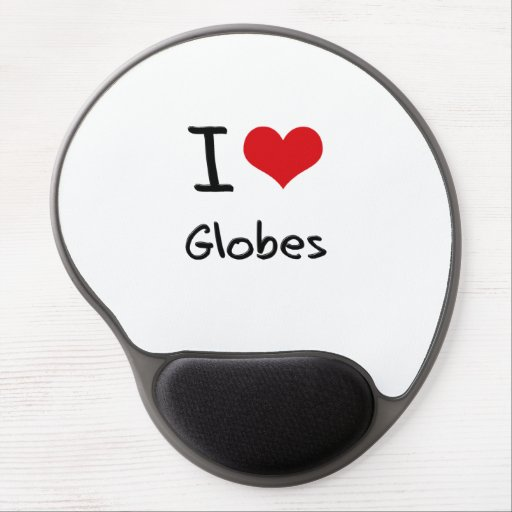 I Love Globes Gel Mouse Pad
