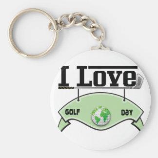 I Love Glof Day Keychain