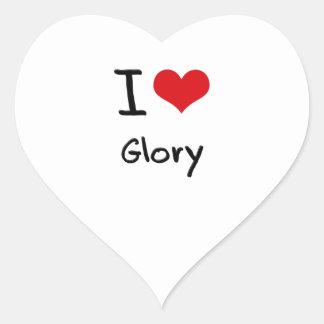 I Love Glory Heart Sticker
