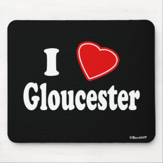I Love Gloucester Mouse Pad