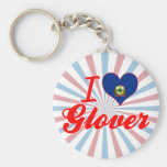I Love Glover, Vermont Key Chain