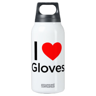 I Love Gloves Insulated Water Bottle