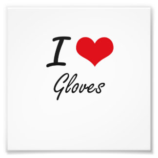 I love Gloves Photo Print