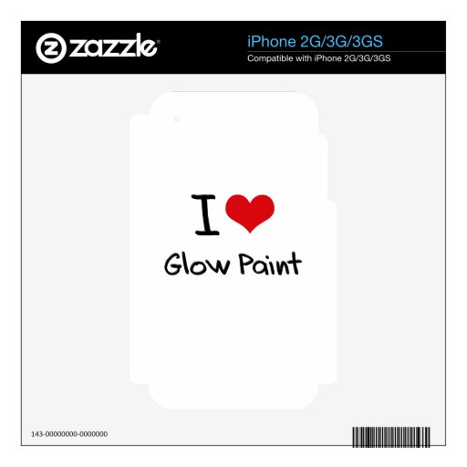 I Love Glow Paint Skins For The iPhone 3