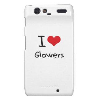 I Love Glowers Motorola Droid RAZR Covers