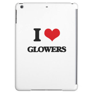 I love Glowers Cover For iPad Air