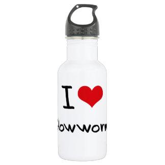 I Love Glowworms 18oz Water Bottle