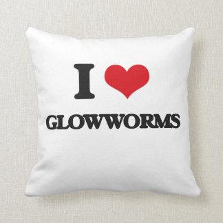 I love Glowworms Throw Pillow