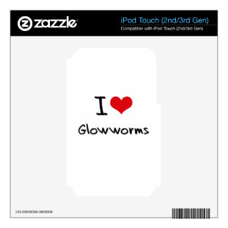 I Love Glowworms Decals For iPod Touch 2G