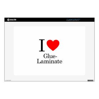 "I Love Glue-Laminate Decals For 15"" Laptops"