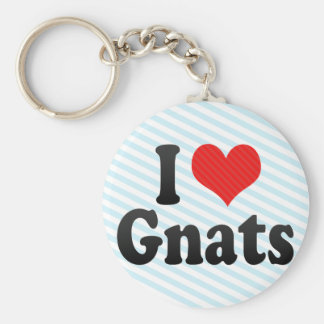 I Love Gnats Basic Round Button Keychain