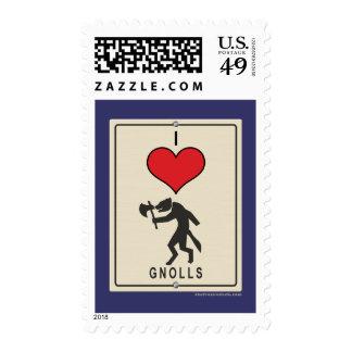 I Love Gnolls Stamp